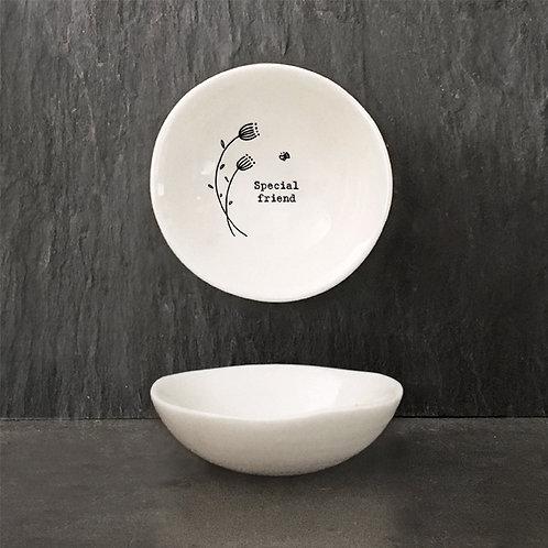 Special Friend Small Porcelain Wobbly Bowl