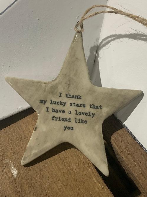 Lucky Stars Porcelain Rustic Star