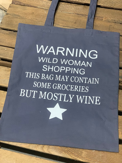 Wild Woman Wine Shopping Bag