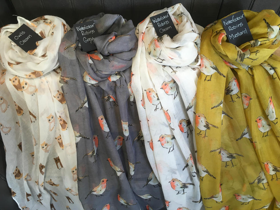 Owl And Robin Scarves