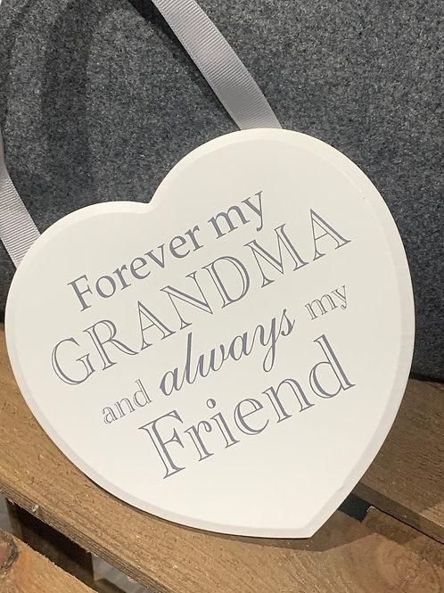 Forever My Grandma Wooden Heart