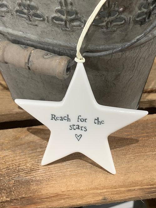 Reach For The Stars Porcelain Star