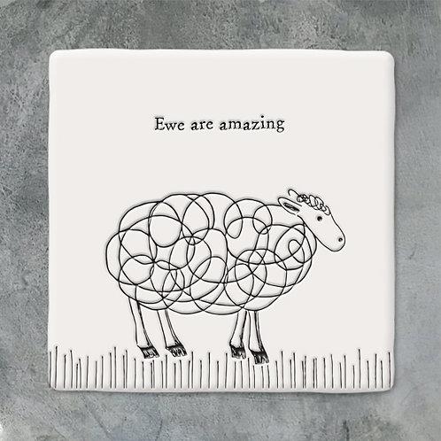 Sheep Porcelain Coaster