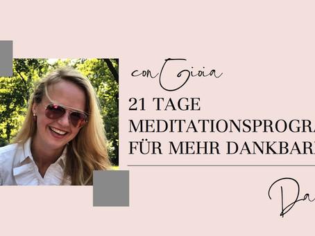 21 Tage Meditationsprogramm - Mein erster Onlinekurs