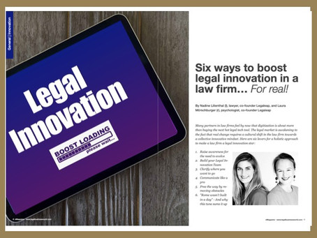 Six ways to boost legal innovation in a law firm... For real!