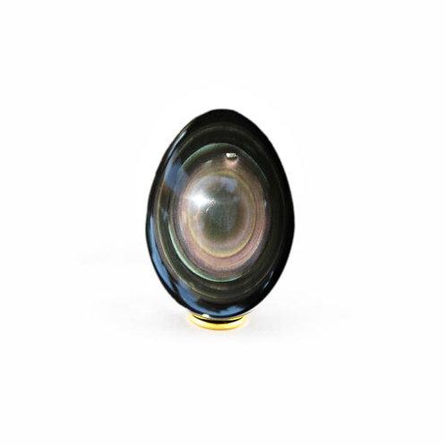 Rainbow Obsidian Yoni Egg