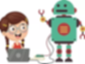 Girl with Robot coding.webp