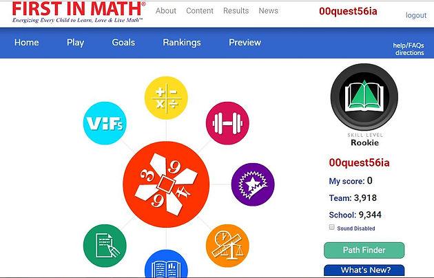 First in Math - Online Program!