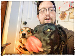 Sean and his DOGS!