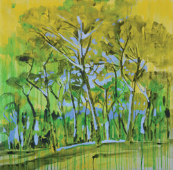 Federici_ROMA 05 gouaches and oil on canvas 100x100 cm