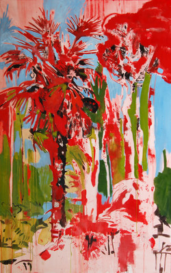 alberi 03 olio su tela 160x80