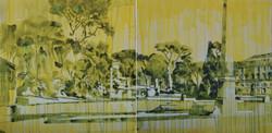 Federici_ROMA 03 gouaches and oil on canvas 100x200 cm