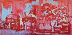 Federici_ROMA 01 gouaches and oil on canvas 100x200 cm-2