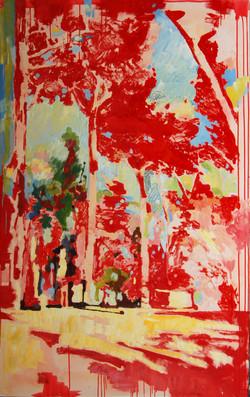 alberi 01 olio su tela 160x100