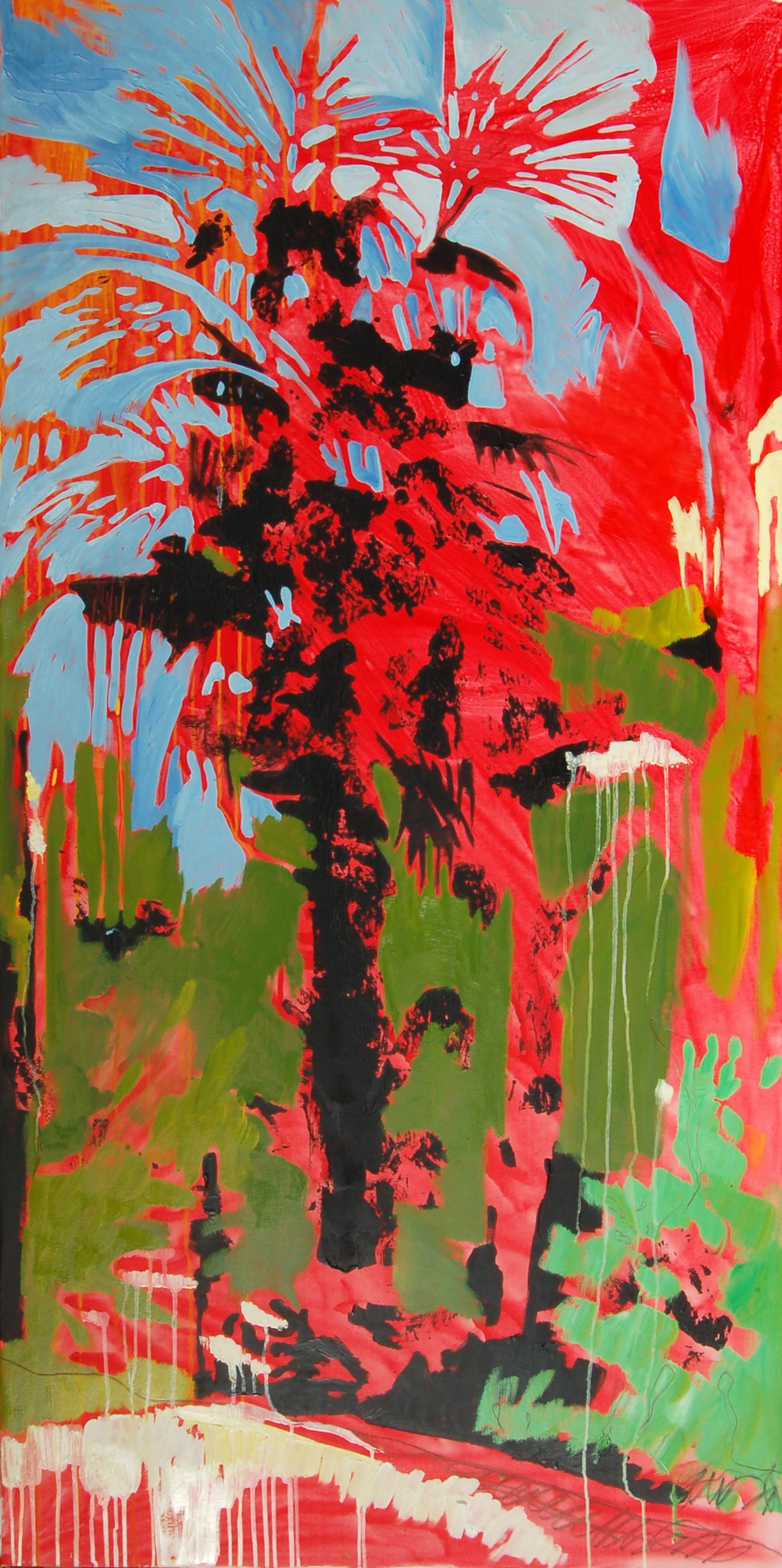 alberi 02 olio su tela 160x80