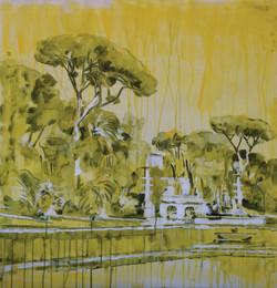 Federici_ROMA 04 gouaches and oil on canvas 100x100 cm