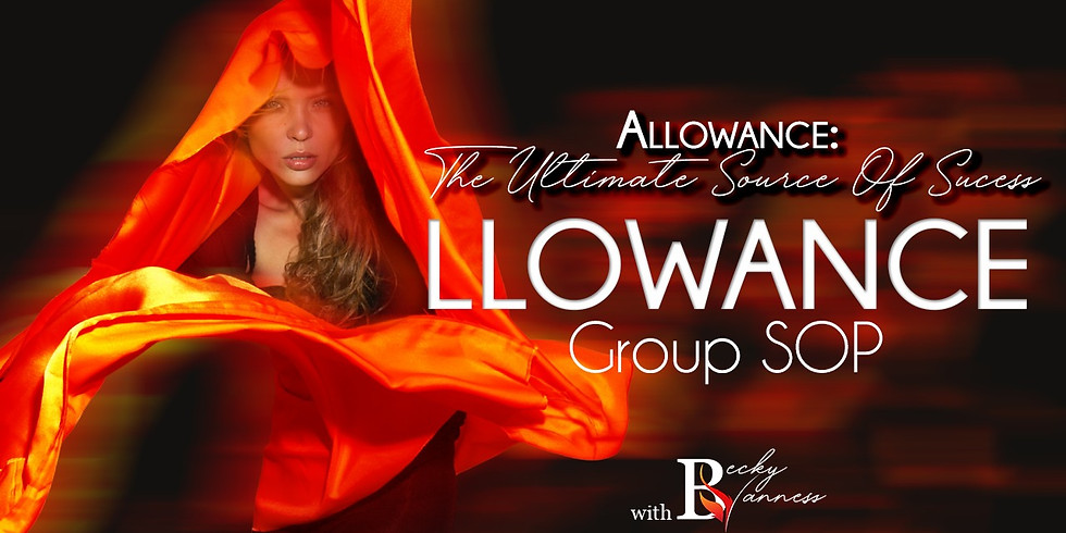 Allowance - The Ultimate Source of Success, Group SOP Taster, Only $15
