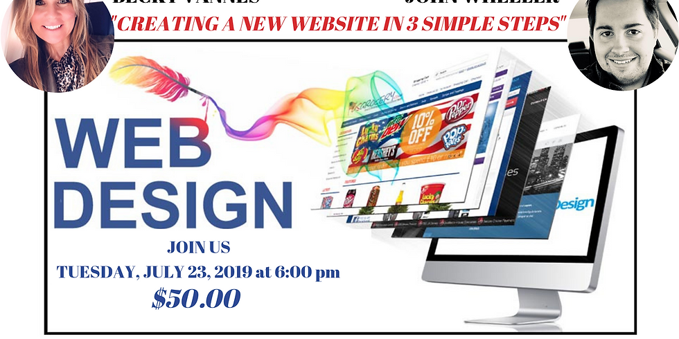 CREATING A NEW WEBSITE IN 3 SIMPLE STEPS, WEB DESIGN