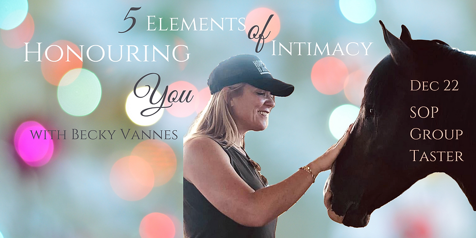 Honoring YOU! -Group SOP Taster with Becky Vannes