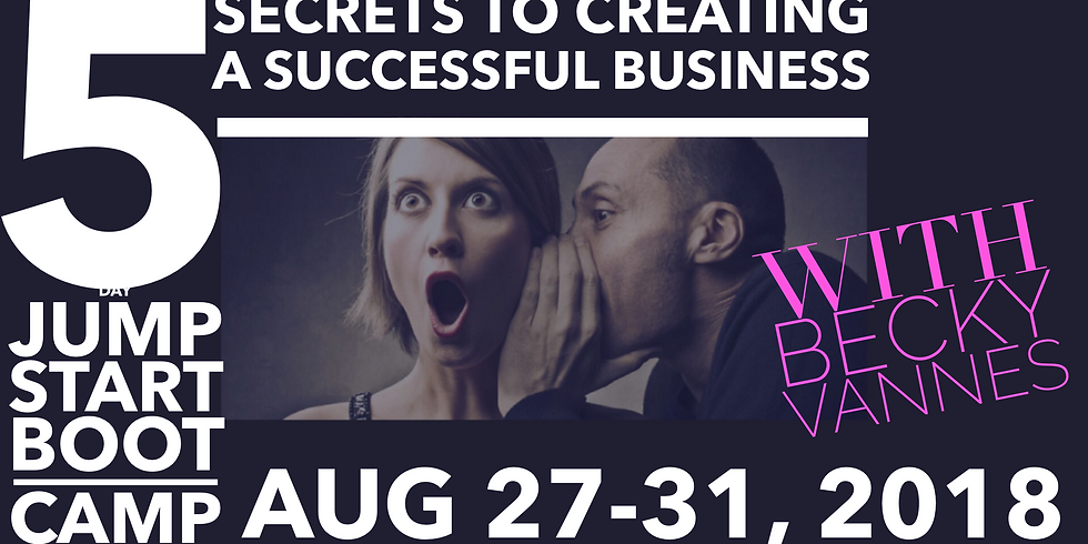 Secrets to Creating a Successful Business 5 day jump Start BootCamp