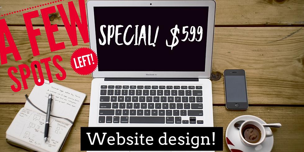 Website Design SPECIAL!  [LIMITED SPOTS]