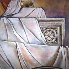 Sarcophagus of St Istvan - a detail I not only under-painted but had the chance to finish it for the Master