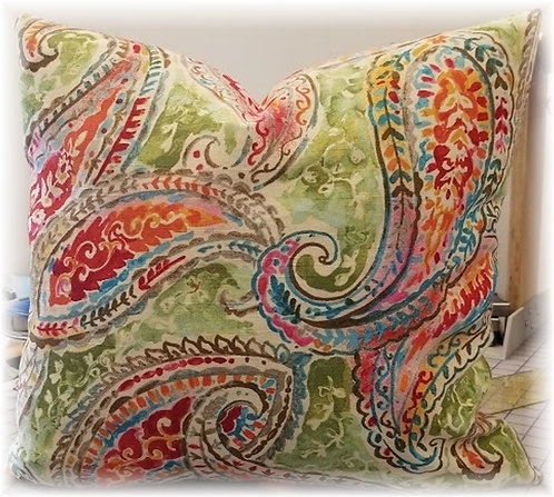 Colorful Paisleys, w/ pillow insert