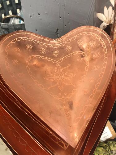 Copper Heart Tray