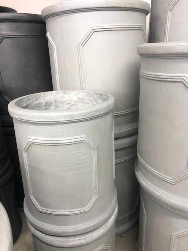 #24 Larger pots asst sizes fiber-stone