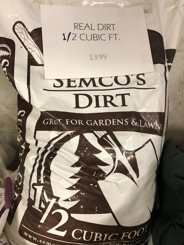 Real Dirt - 1/2 cubic ft