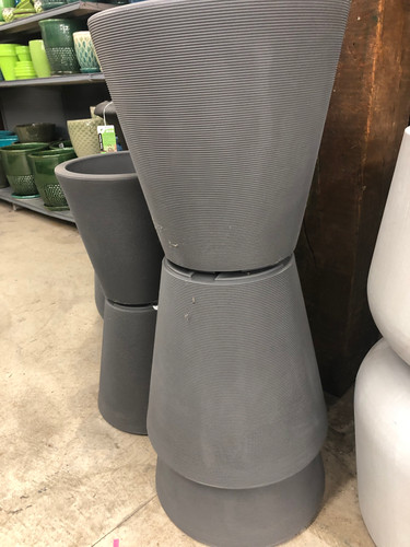 #37 Large pot High quality double wall plastic