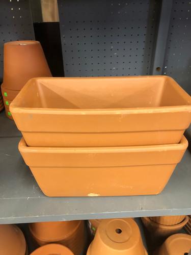 #51 Asst sizes terracotta window box