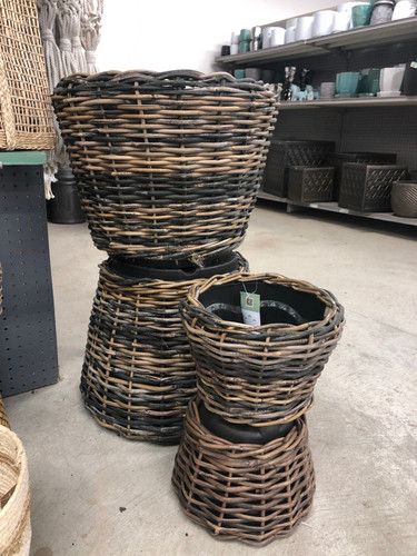Lined Wicker Baskets