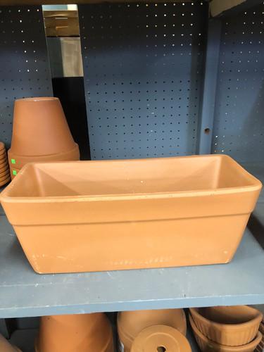#54 Asst sizes terracotta window boxes