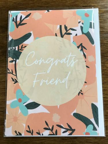 Congrats Friend Card