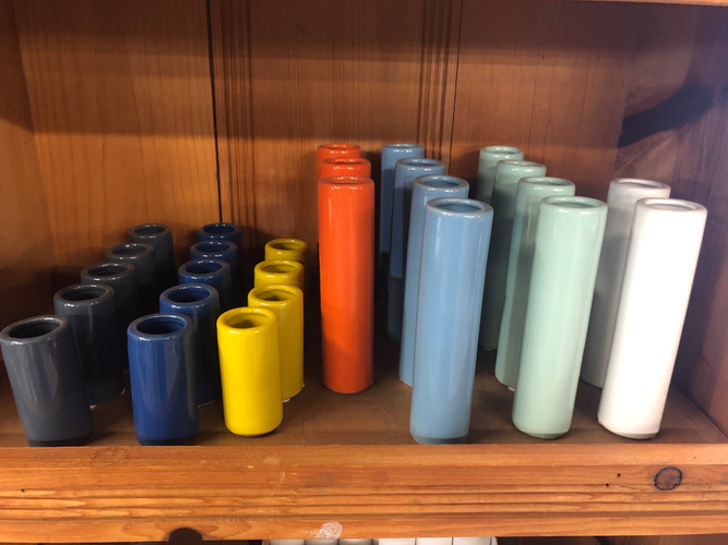 Colored Bud Vases
