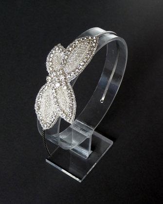 Crystal Diamante Silver Beaded Headband 'Jasmine'