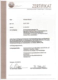 Zertifikat für Baustellenabsicherung