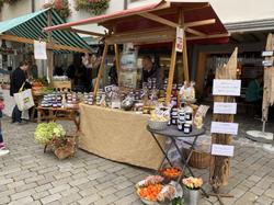 Marktstand in der Wiler Altstadt