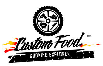 Custom Food - cooking explorer - logo - marchio