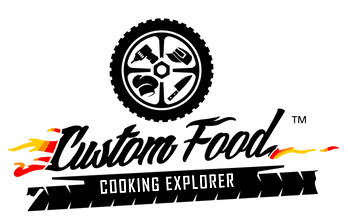 Custom Food - cooking explorer - logo - marchio