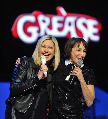 Singers Olivia Newton-John and Didi Conn