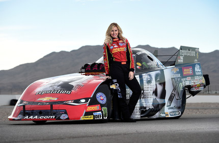 Funny Car driver Courtney Force