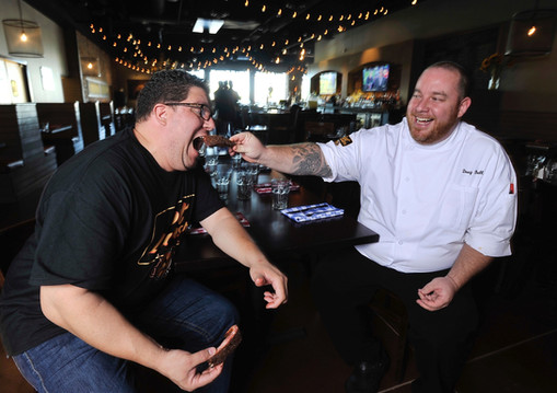 Restaurateurs Flip Arbelaez and Doug Bell