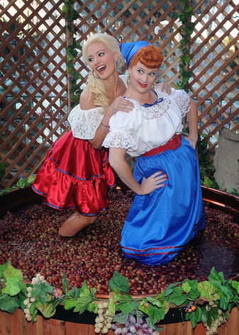 """Television personality Holly Madison and """"Lucy"""""""