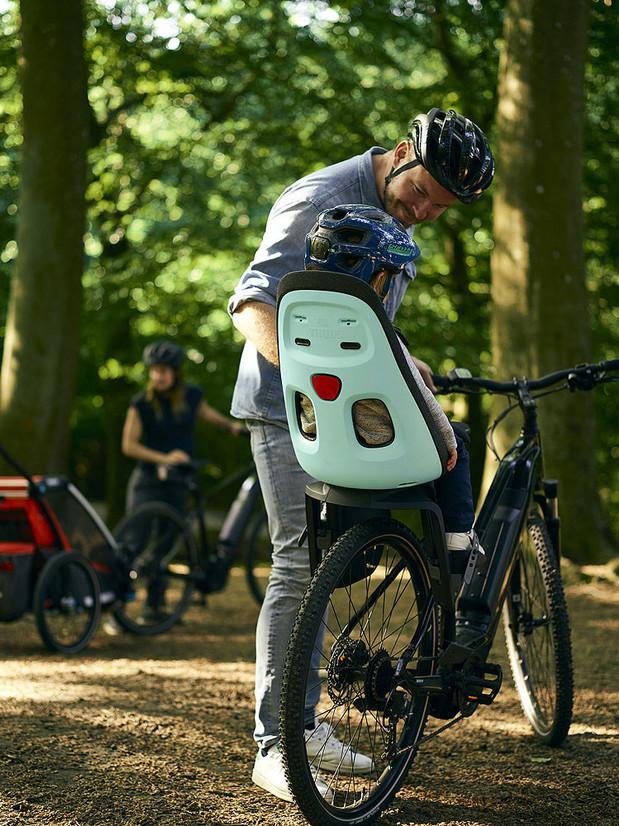 Thule Yepp Nexxt Maxi on a mountain bike