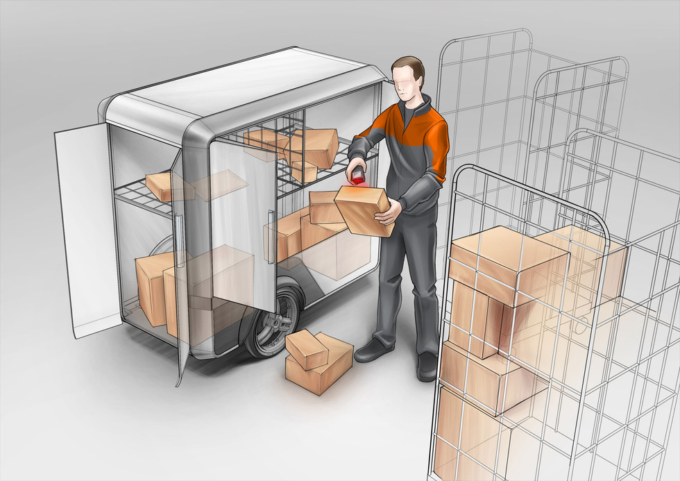 loading of the Cargo Trailer concept