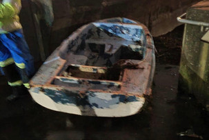 Ardrossan coastguard team called out to a washed up boat in Saltcoats