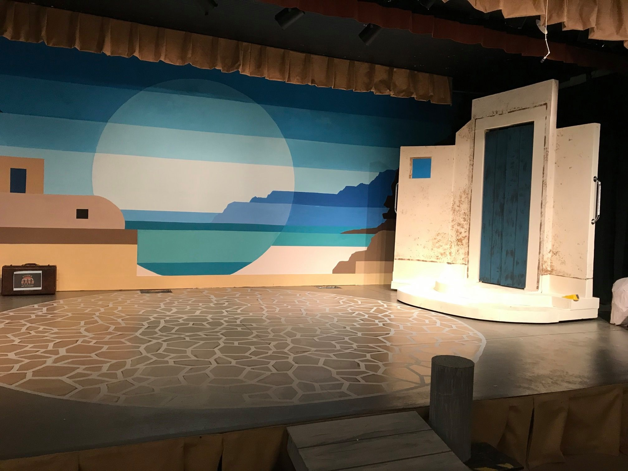 Mamma Mia set piece 2019