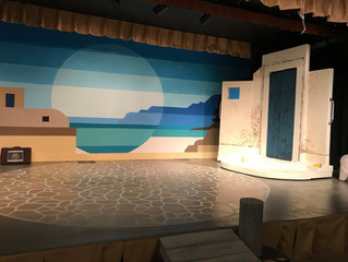 Set pieces for Mamma Mia